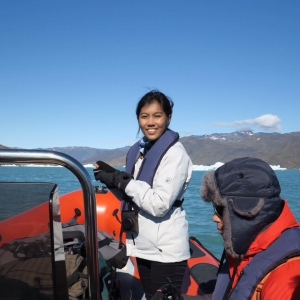 """It is very intersting and overwhelming to finally see the affects on climate change on the glaciers first hand."" – Nesha (Indonesia)"